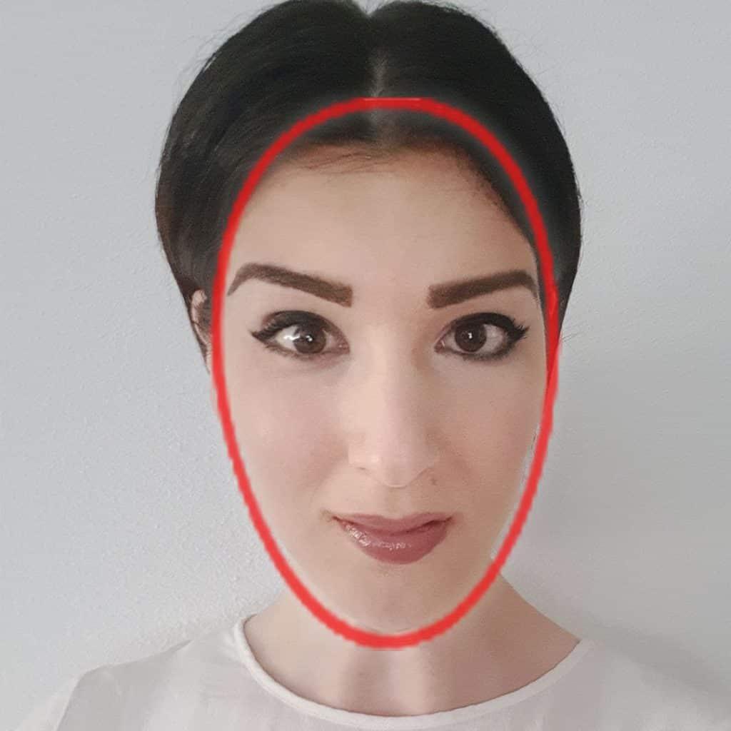 foto waarbij je ziet dat ik een ovaal gezichtsvorm heb