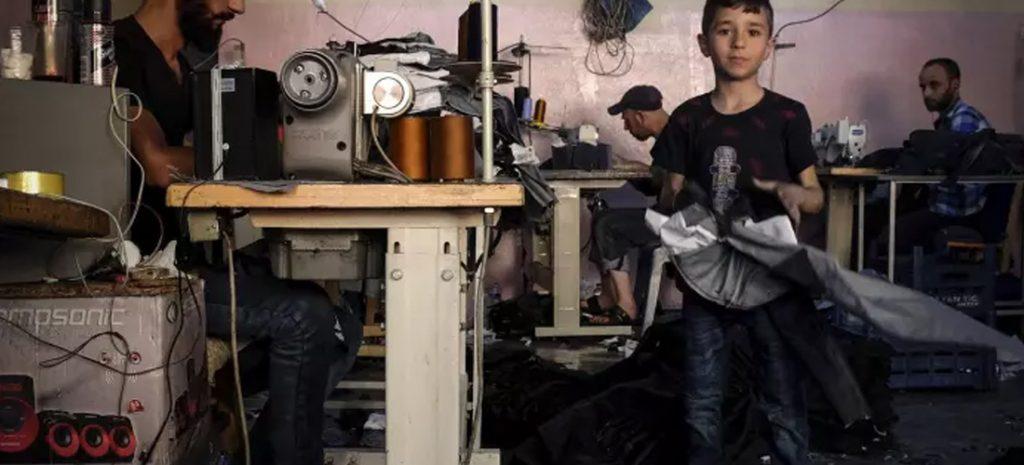 Foto met een kind in een atelier